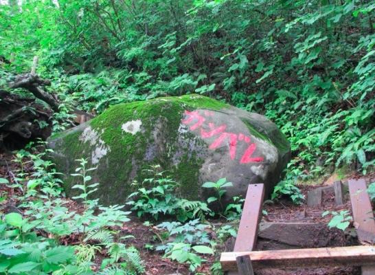 ガンバレ岩