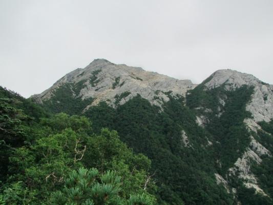 登山道からの甲斐駒と摩利支天