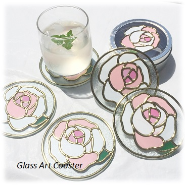 20160901Glass Art Coaster