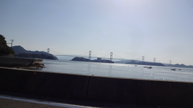 復路最後は来島海峡大橋