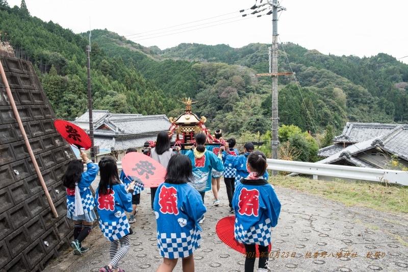 20161023 桃香野八幡神社 秋祭り (1)