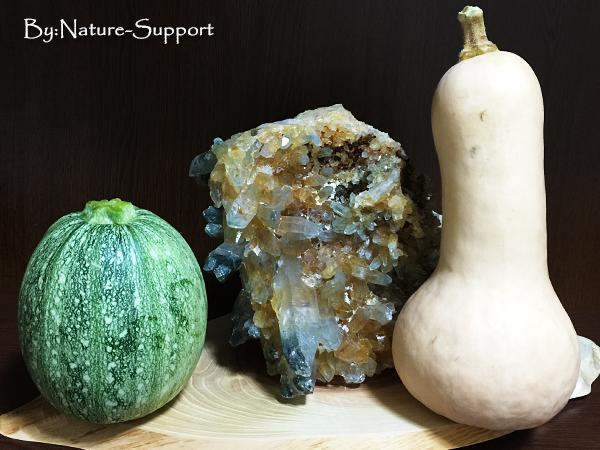 ヒマラヤ水晶クラスター&野菜