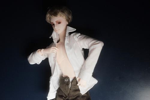 PARABOX、27cmスリム、弥勒ヘッド、メイクカスタム、京極夏彦の小説「百鬼夜行シリーズ」の榎木津礼二郎をイメージしたドール・礼二郎の着替え