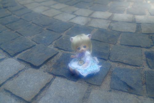 オビツ11ボディ、PARABOXヒカリちゃんヘッドをカスタムして作った猫っ子ポーの夏のお散歩