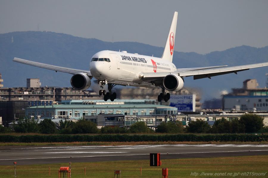 JAL B767-346ER / JA614J@伊丹スカイパーク南駐車場