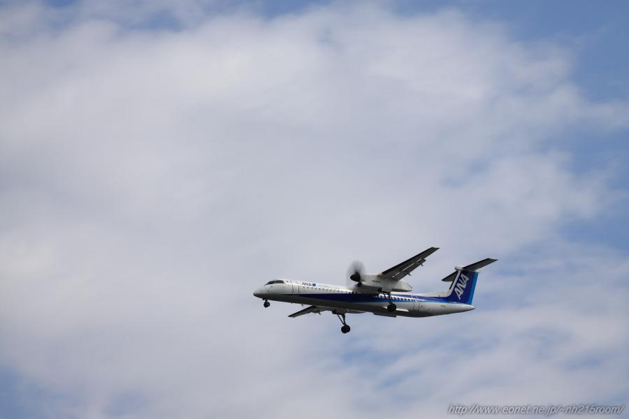 ANA WINGS DHC-8-402Q / JA855A@豊中樹木見本園
