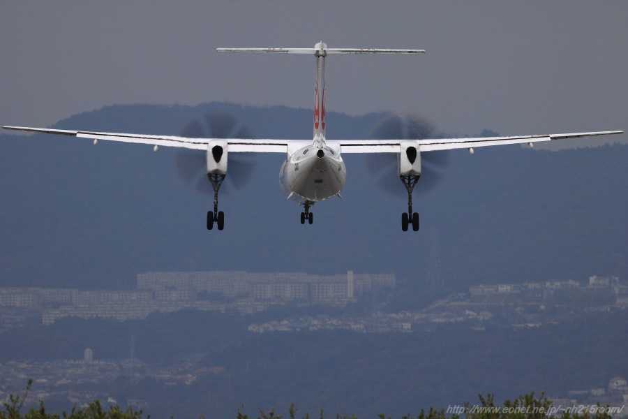 JAC DHC-8-402Q / JA841C@RWY32Rエンド・東水門周辺