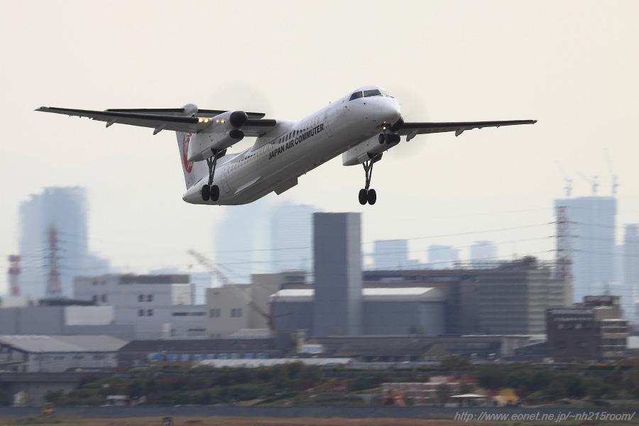 JAC DHC-8-402Q / JA844C@下河原緑地展望デッキ
