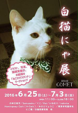 白猫にゃ展@アトリエコメット