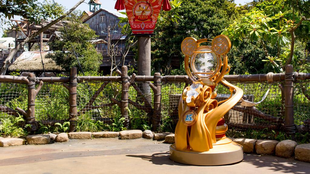 東京ディズニーシー十五周年モニュメント(ロストリバーデルタ)