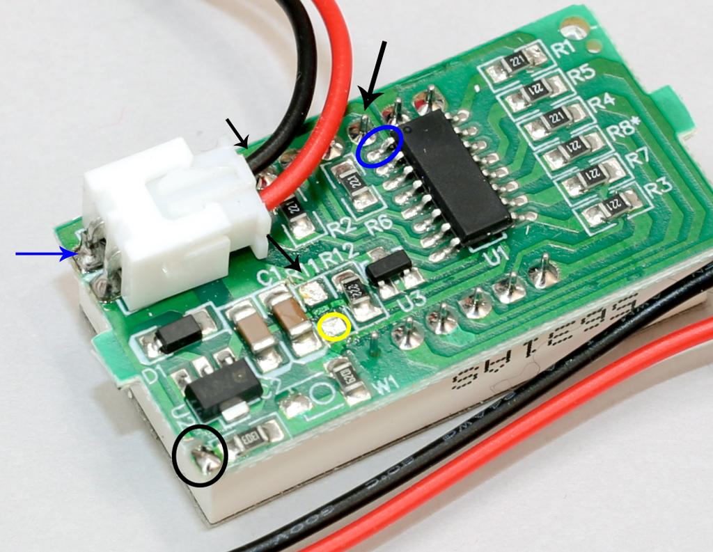 184円のデジタル電圧計で温度計を作る(KKHMF 赤 DC3.2V-30V デジタル電圧計 適用6V 12V 電気自動車オートバイ)