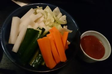 自家製辛味噌の野菜スティック
