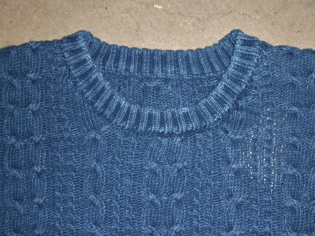 NORULE Cable cotton knit lnidigo1