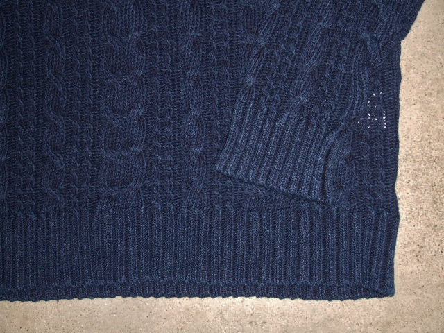 NORULE Cable cotton knit indigo2