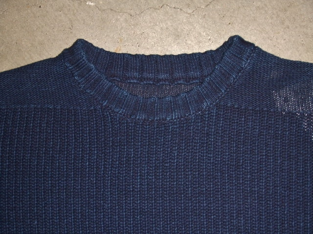 NORULE cotton knit indigo1