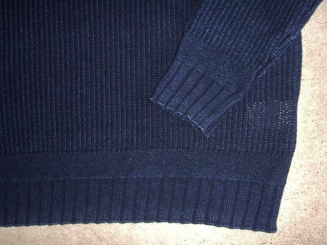 NORULE cotton knit indigo3