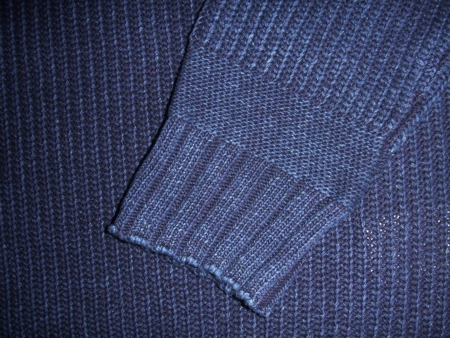 NORULE cotton knit indigo4
