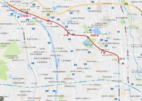 伊丹線延伸地図
