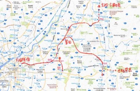 奈良電_路線図