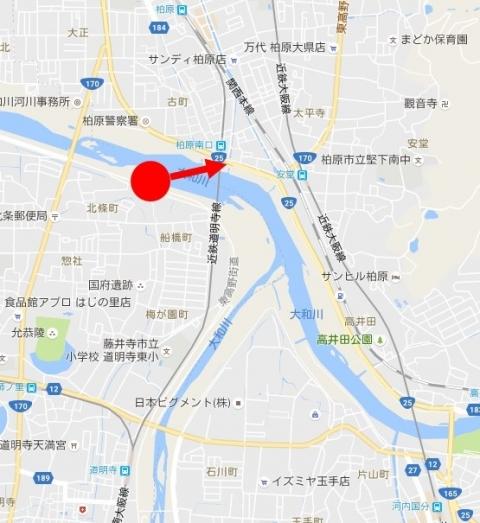 大和川近鉄地図