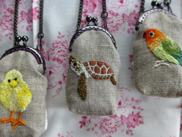 動物の刺繍