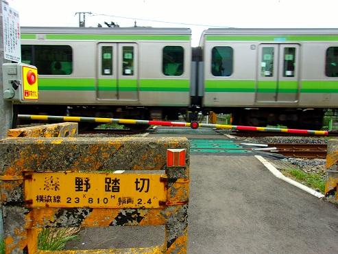 横浜線の森野踏切@町田市h