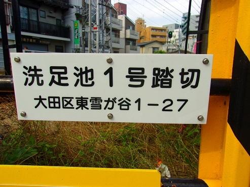 東急池上線の洗足池1号踏切@東京都大田区b