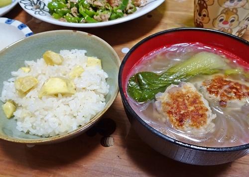 初物・栗ご飯♪