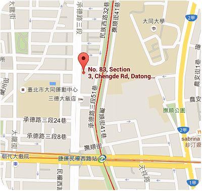 天王台灣冠軍牛肉麵 地図