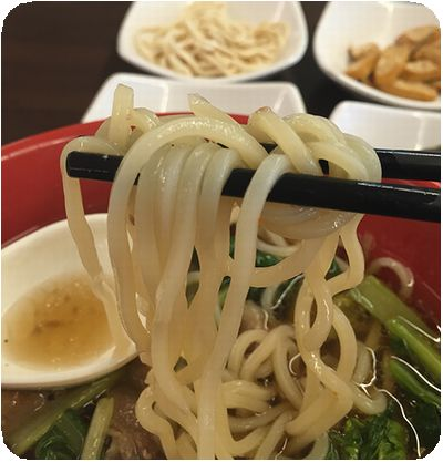天王台灣冠軍牛肉麵の麺