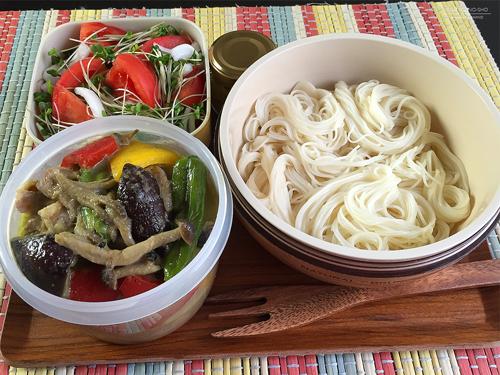牛肉のグリーンカレー素麺弁当01
