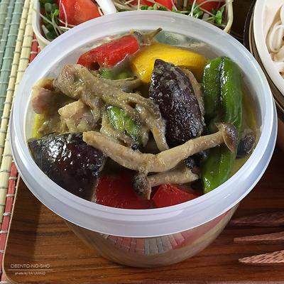 牛肉のグリーンカレー素麺弁当02