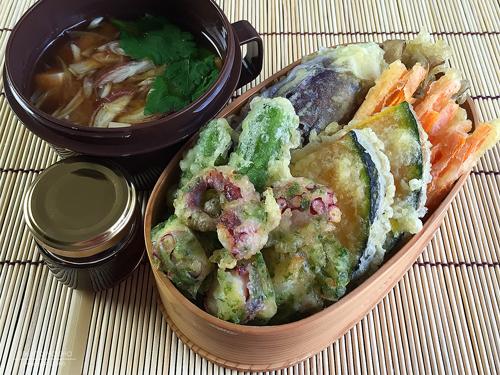 タコの磯辺揚げ&野菜天弁当01