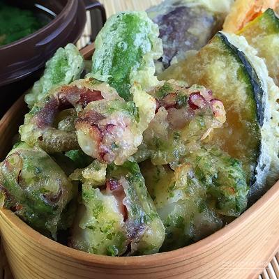 タコの磯辺揚げ&野菜天弁当02
