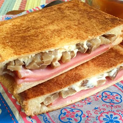 いぶりがっこ&クリームチーズのホットサンド弁当02