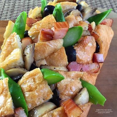 ベーコンと野菜のプルアパートブレッド弁当02