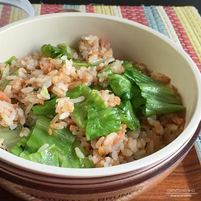 鮭フレークのレタス炒飯弁当02
