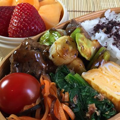 牛肉と空豆の黒胡椒炒め弁当02