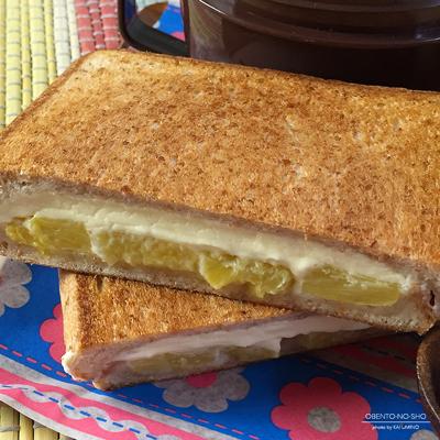 クリームチーズパインのホットサンド弁当03