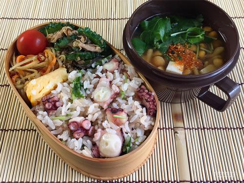こんぶ茶のたこ飯弁当01