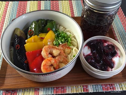 海老と夏野菜の黒酢南蛮素麺弁当01