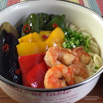 海老と夏野菜の黒酢南蛮素麺弁当02