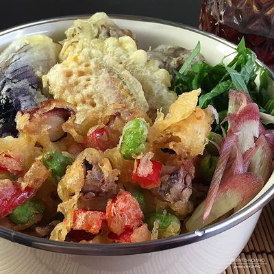 蛸と枝豆のかき揚げ素麺弁当02