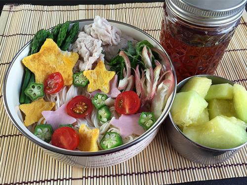 豚しゃぶの七夕素麺弁当01