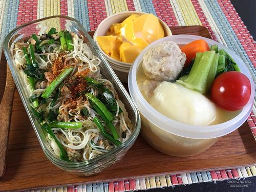 高菜とツナの素麺チャンプルー弁当01