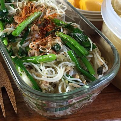 高菜とツナの素麺チャンプルー弁当02