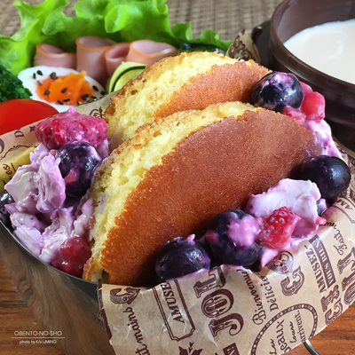 ベリークリームチーズホットケーキ弁当02