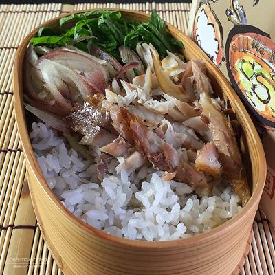 鯵の開きの麦飯ひや汁弁当03