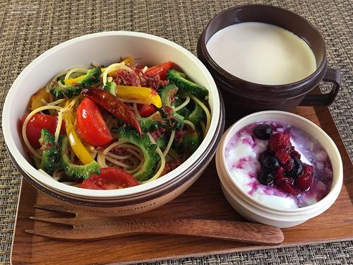 夏野菜とコンビーフのパスタ弁当01