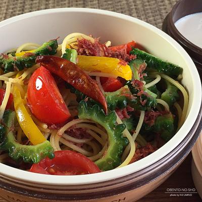 夏野菜とコンビーフのパスタ弁当02